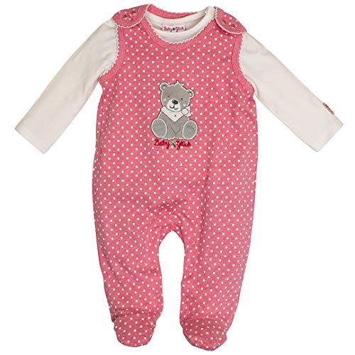 SALT AND PEPPER Baby Mädchen Strampler Teddy Soft pink 95824248 (068)