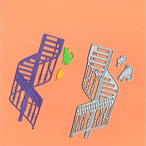 PIXIEY DIY snij-matrijs Spiraal Trap Kat Muis Sterft Scrapbooking Stencil Sjabloon Voor Diy Embossing Papier Photo Album Kaarten maken Nieuwe Cut Die