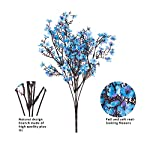 mehelany baby breath artificial flowers, 4 pcs gypsophila fake flowers bouquet 5 branch silk flowers for home, wedding, party, diy decoration (blue, 4)