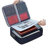 Porta-file portatile organizer borsa titolare impermeabile con serratura per casa ufficio sicuro documento passaporto certificato passaporto titolare certificato passaporto
