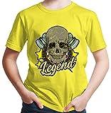 Hariz - Camiseta para niño con diseño de flechas Legend, calaveras, diana, diana, deportiva, incluye tarjetas de regalo Negro 152 cm