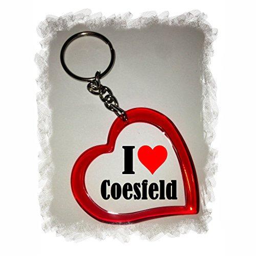 Druckerlebnis24 Herz Schlüsselanhänger I Love Coesfeld - Exclusiver Geschenktipp zu Weihnachten Jahrestag Geburtstag Lieblingsmensch