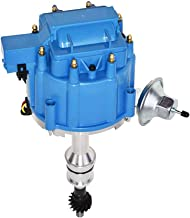 A-Team Performance HEI Complete Distributor 65K Coil Compatible with BBF Big Block Ford 351C 351M 400M 429 460 One Wire Installation Blue Cap