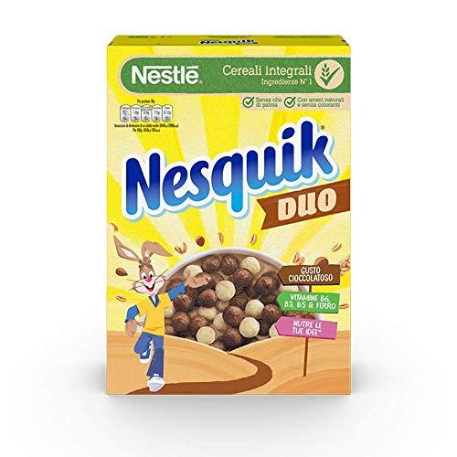 NESQUIK DUO Palline con Cereali Integrali, Cacao e Cioccolato Bianco 325 g