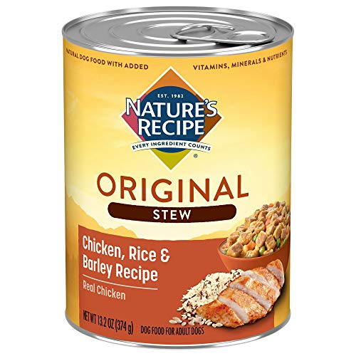 Nature's Recipe Easy to Digest Wet Dog Food, Chicken, Rice & Barley Recipe, 13.2 Ounce Can (Pack of 12) (Packaging May Vary)