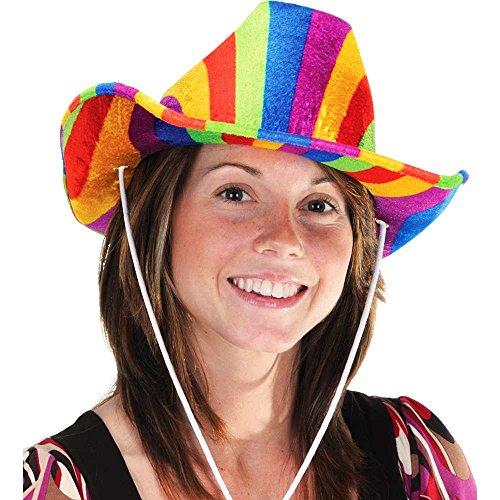 Beistle 60843-RB Cowboy Hat - Rainbow
