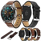 Angersi 22mm Soft Piel Genuina Sport Correa Replacement Bands Compatible con Huawei Watch GT...