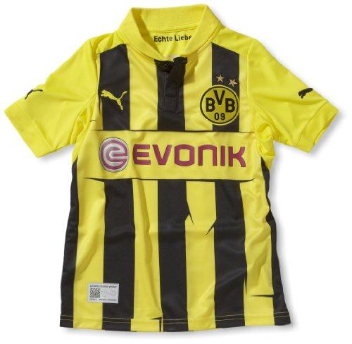 PUMA Kinder Trikot BVB Home Replica Int'l, Blazing Yellow-Black, 140, 741448 01