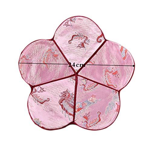 Goddness Bar Tapis de Plateau de thé en Tissu décoratif Coaster Retro Pad Tapis (Style 20)