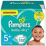 Pampers Windeln Größe 5+ (12-17kg) Baby Dry, 132 Stück, MONATSBOX