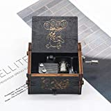 Hjku Hand Crank En Rose Wooden Music Box Game of Thrones Star Wars You Are My The Legend of Zelda Birthday Gift,Winnie The Pooh