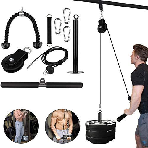 flower205 Pull Down Machine Cable Pulley System Pulley System Set DIY Fitness-Ausrüstung Für Unterarm Muskelkrafttraining