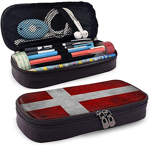 Vlag Scandinavië Europa Denemarken PU lederen etui waterdichte make-up tas