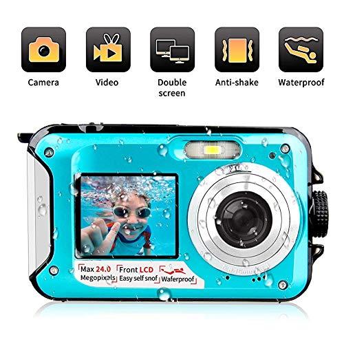 Waterproof Camera Digital Camera Self-timer Dual Screen Anti Shake Digital...
