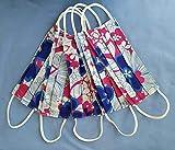 Mundschutz Maske Baumwolle -Mischware Bunt, Handgemachte Behelfsmasken, Waschbar bei 60°, 5 Stück