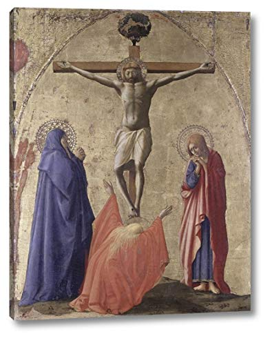 """Crucifixion by Masaccio - 30"""" x 38"""" Canvas Art Print Gallery Wrapped - Ready to Hang"""