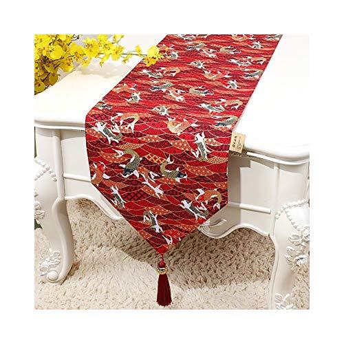 Tafelvlag in Chinese stijl licht luxe salontafel vlag doek Europese luxe tv-kast modern minimalistisch tafelkleed 33 * 200cm C