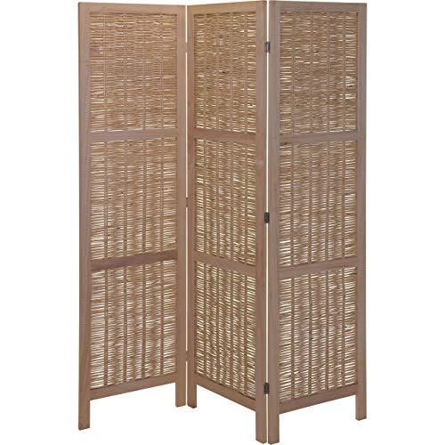 AiO-S - OK Paravent Raumteiler 3 teilig Wandschirm Faltbarer Sichtschutz Holz ca. 130 x 170 X 2 cm