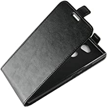 Flip Cases - Flip Leather Case for for Sony Xperia L2 Dual H3311 H3321 H4311 H4331 Retro Wallet Case Leather Cover Cases Fundas Coque> (R6S BK for Xperia L2)