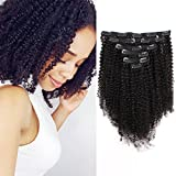 ABH AmazingBeauty Hair 8A Grade Big Thick Real Remy Human 4A 4B Double Wefted Afro Curly Clip In Hair Extensions for...