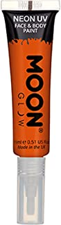 Intense Orange Face And Body Paint With Brush Applicator One Size