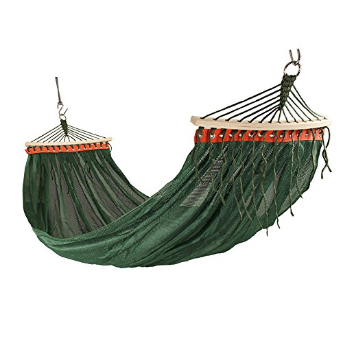 MMWYC Hammock Camping Outdoor Hammock, 1 Person 200 X 150 Cm(78.7x59 In), Double Mesh Ventilation, Portable Hammock With Spreader Bars, Multi-color Optional (Color : Red)