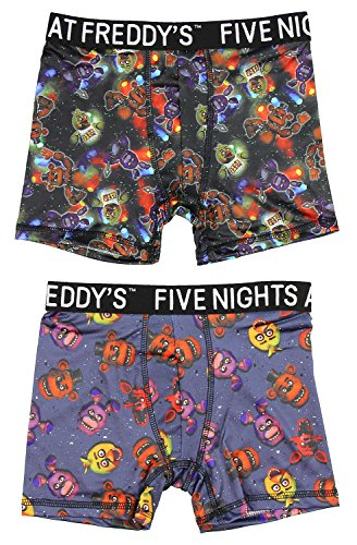 Five Nights at Freddy's Action Underwear 2 Pack Boys Boxer Briefs (Small, 6)