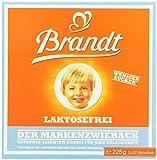Brandt Markenzwieback laktosefrei, 10er Pack (10 x 225 g) -