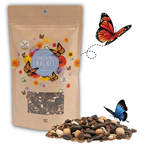 200g Schmetterlingswiese Samen für eine bunte Blumenwiese - Farbenfrohe & nektarreiche Wildblumensamen Mischung für Schmetterlinge
