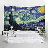 Hao Sai's shop Tapiz Van Gogh Pintura Al Óleo Mandala Tapestry De Hippy Ropa De Cama Doble Colcha, Sábana De Playa De Picnic, Mantel, Boho, Tapiz Decorativo 220(H) X240(An) Cm