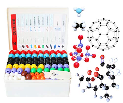 LINKTOR Chemistry Molecular Model Kit (444 Pieces), Student or Teacher Set for Organic and Inorganic Chemistry Learning, Motivate Enthusiasm for Learning and Raising Space Imagination, A Fullerene Set
