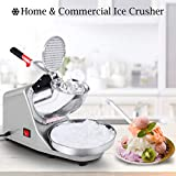 COSTWAY Ice Crusher, Electric Ice Shaver Machine, Stainless Steel Snow Cone Maker for Ice Cream, Cold Drinks, Fruit Dessert and Cocktail, 65Kg/Hour for Household & Commercial Use