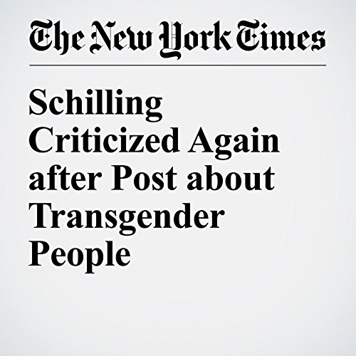 Schilling Criticized Again after Post about Transgender People cover art