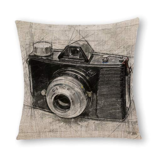 Cheyan Camera Agfa Aangepaste Faux Linnen Gooi Kussen Covers Kussensloop