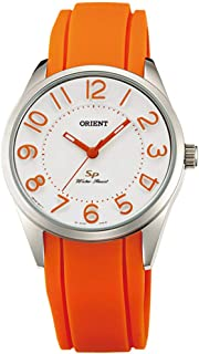 Orient Womens Quartz Watch, Analog Display and Rubber Strap FQC0R008W0