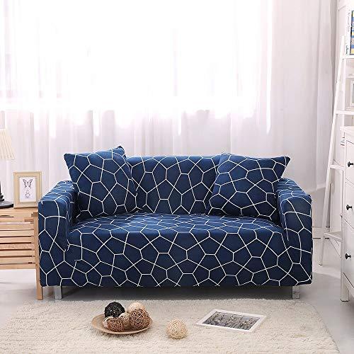 Funda de sofá elástica de algodón Funda de sofá Todo Incluido para Sala de Estar Funda elástica en Forma de L Sofá de Esquina A24 1 Plaza