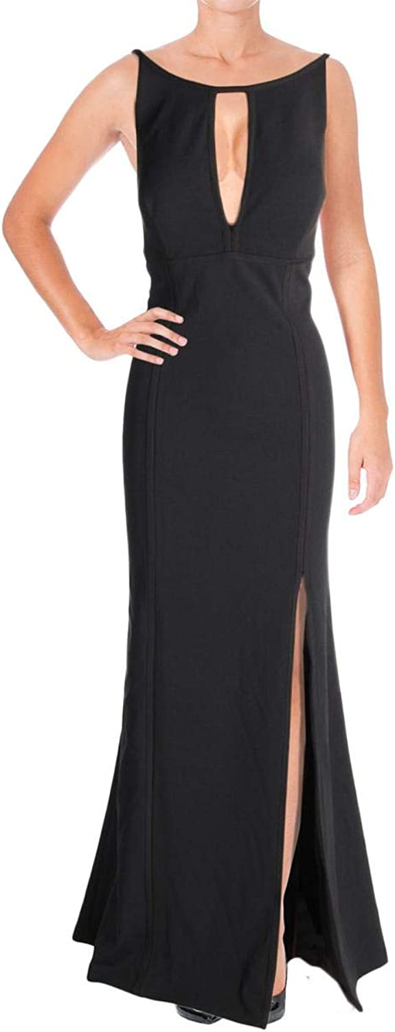 Aidan Mattox Womens FullLength Halter Evening Dress
