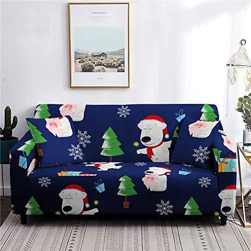Funda elástica para sofá de Navidad, funda elástica para sofá de 1 plaza, color 2