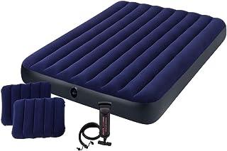 comprar comparacion Intex 68765 - Colchón hinchable con 2 almohadas y bomba 152 x 203 x 22 cm