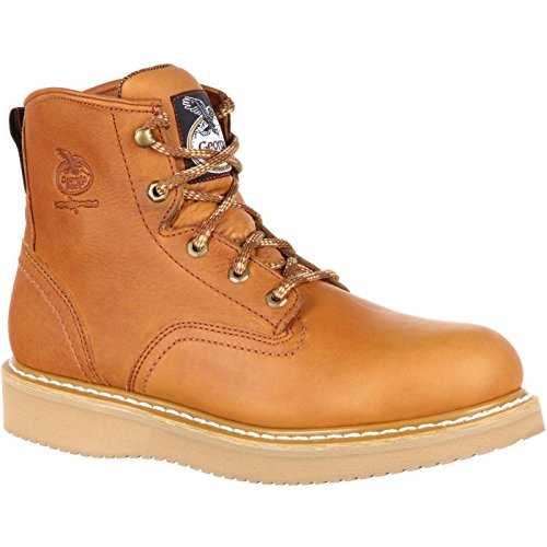 Georgia Men's 6'' Wedge Work Boot, Barracuda Gold, 8.5 M US