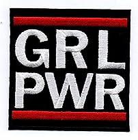 Patch Motiv GRL Power Girl Power, 7,5 x 7,5 cm