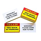 RXBC2011 Gag Gifts for Bad Parking You suck at Parking Business Cards (Pack of 100)