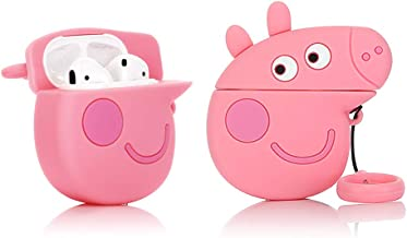 ZAHIUS Silicone Case Compatible for Apple Airpods 1&2 Funny Cover[3D Cartoon Pink Pig Piggy Pattern][Designed for Kids Girl and Boys](Peppa Pig)