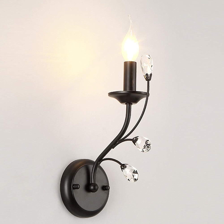AmzGxp Kristall Einfache Moderne Wandleuchte Wohnzimmer Schlafzimmer Küche Metall Wandleuchte Kreative Kerze Wandleuchte schn