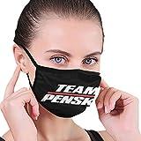 Unisex Balaclava Team Penske Face Mask Bandana Adjustable Earloop Mouth Face Cover for Adult with 2 Filter Medium
