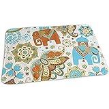 Babydesign Wickelauflage,Blumen Und Elefanten Assistent Baby Wickelunterlagen Für Jungen Und Mädchen 50cmx70cm