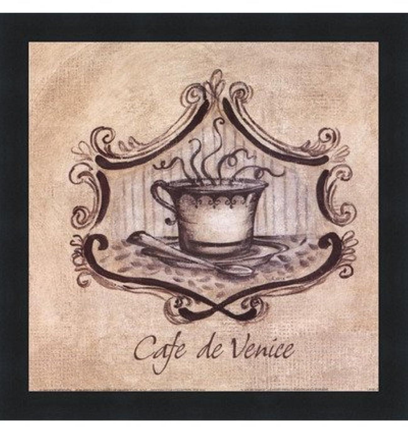 剥ぎ取るギャングスターぜいたくCafe De Venice by Kate McRostie?–?9?x 9インチ?–?アートプリントポスター LE_104100-F101-9x9
