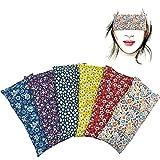 Almohada para los ojos 'Pack de 6 unidades - Flowers'   Semillas de Lavanda y arroz   Yoga,...