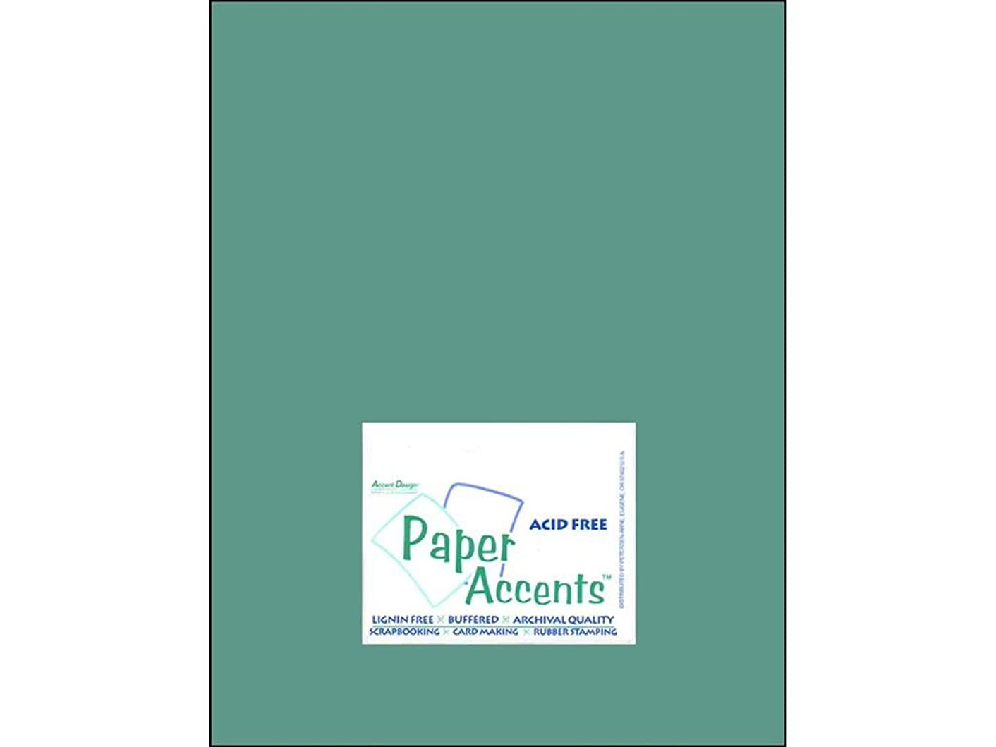 Accent Design Paper Accents Cdstk Muslin 8.5x11 74# Blue Oasis
