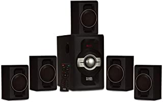 Acoustic Audio by Goldwood AA5240 Home Theater 5.1 Bluetooth Speaker System with USB and SD Inputs, Black